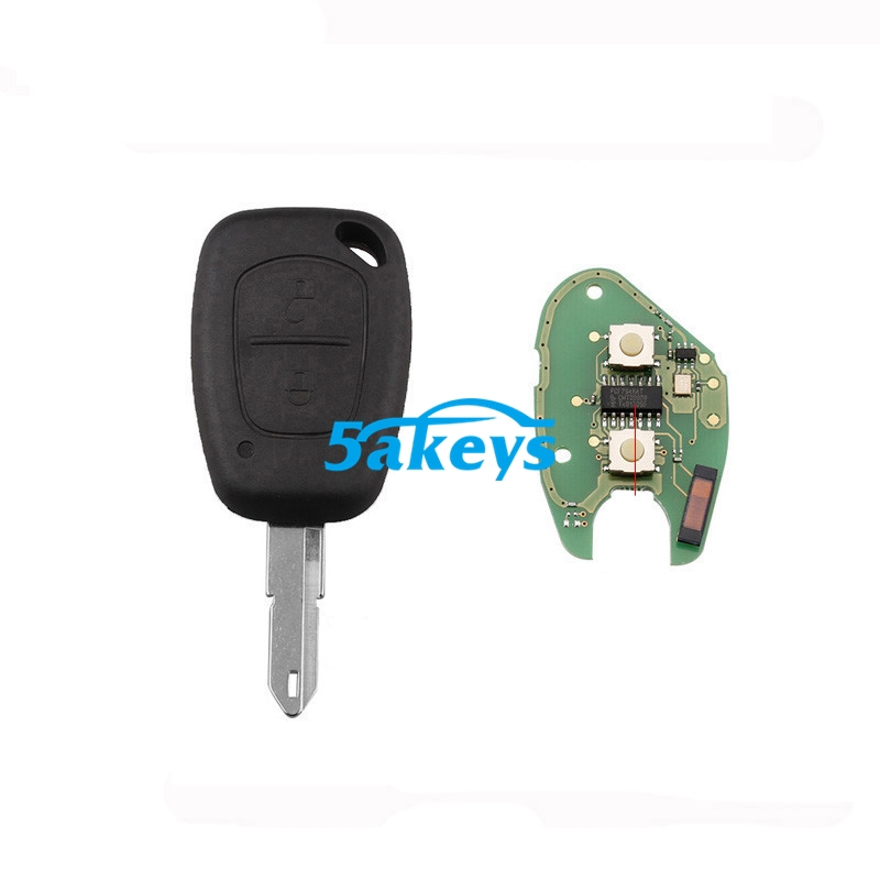 2 Button Chip 433MHz Remote Key Fob For Renault Master