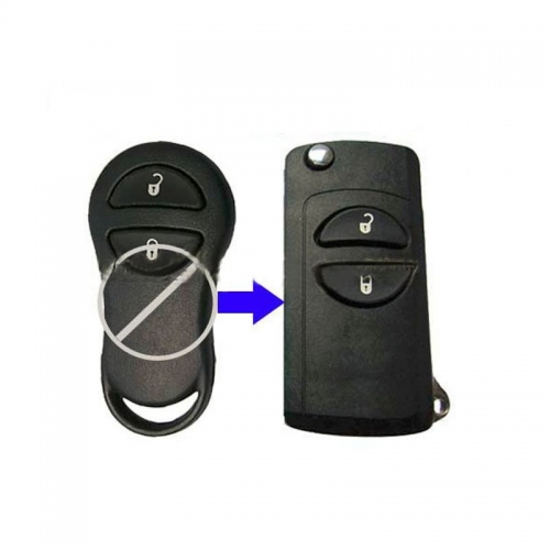 For Chrysler 2 buttons flip modified remote key shell