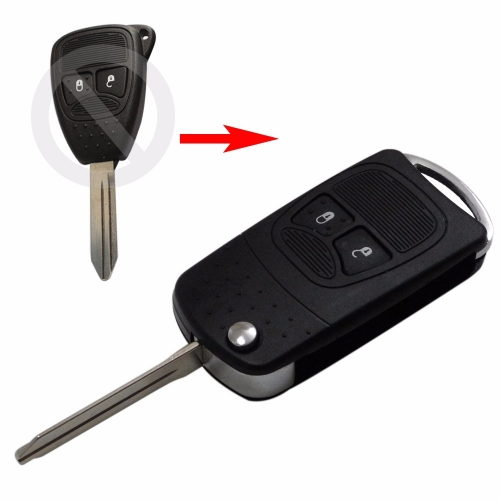 For Chrysler 2 buttons flip modified remote key blank