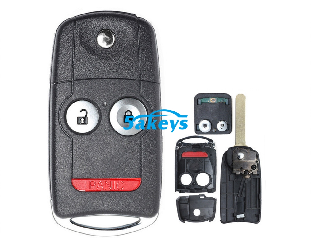 For Acura Tl Tsx Zdx Mdx Rdx 3 Button Remote Car Key 313 8mhz Id46 Chip Fcc Mlbhlik 1t